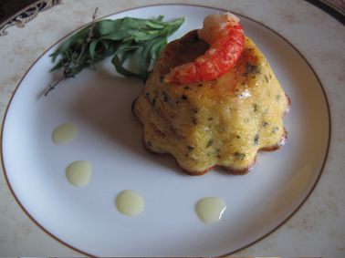 No pastry Crab ginger coriander