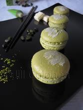pistachio wasabi macarons