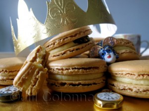 macarons in the style of galette des rois Jill Colonna