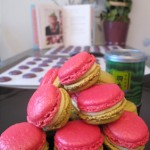 rose green tea macarons
