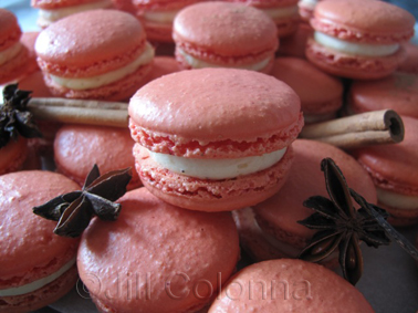 Spicy Christmas Orange Blossom Macarons by Jill