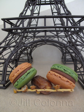 Parisian macarons on a date
