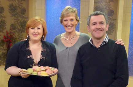 rose macarons on STV The Hour