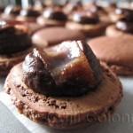 chocolate bacon macarons