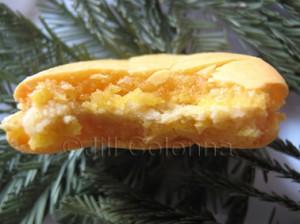 bitten mimosa macaron