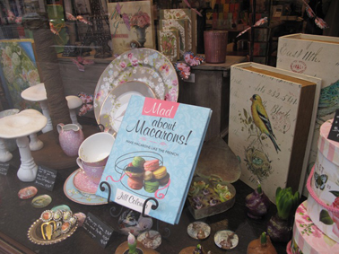 In the window at Brentano's bookstore