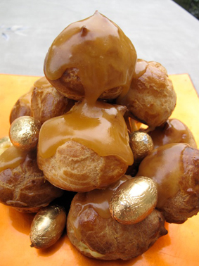 Choux Passion Buns with Passion Caramel Jill