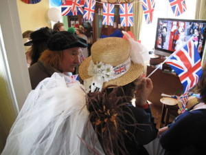 lots of fun at a royal wedding party in Croissy