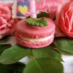 rose macaron birthday cake