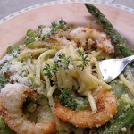 prawn lemon and asparagus spaghetti