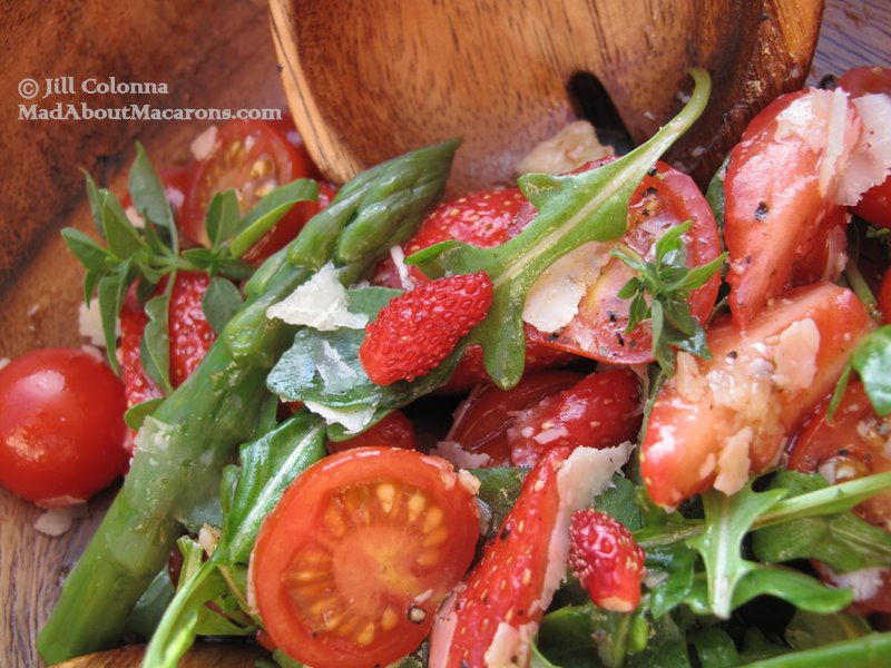 cherry tomato strawberry rocket salad