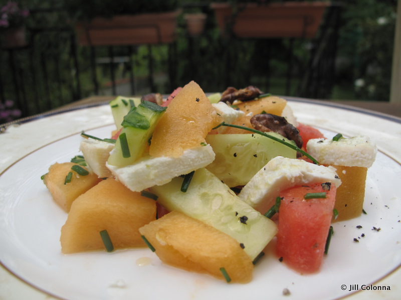 goat cheese melon watermelon salad
