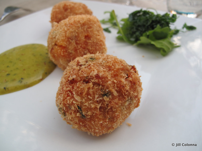 sweet potato crab croquettes