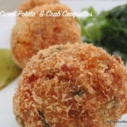Thai sweet potato and crab croquettes