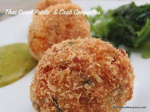 Thai sweet potato and crab croquettes