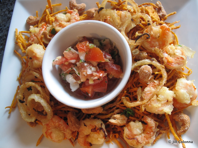 Crispy Sweet Potato Prawn Thai Salad