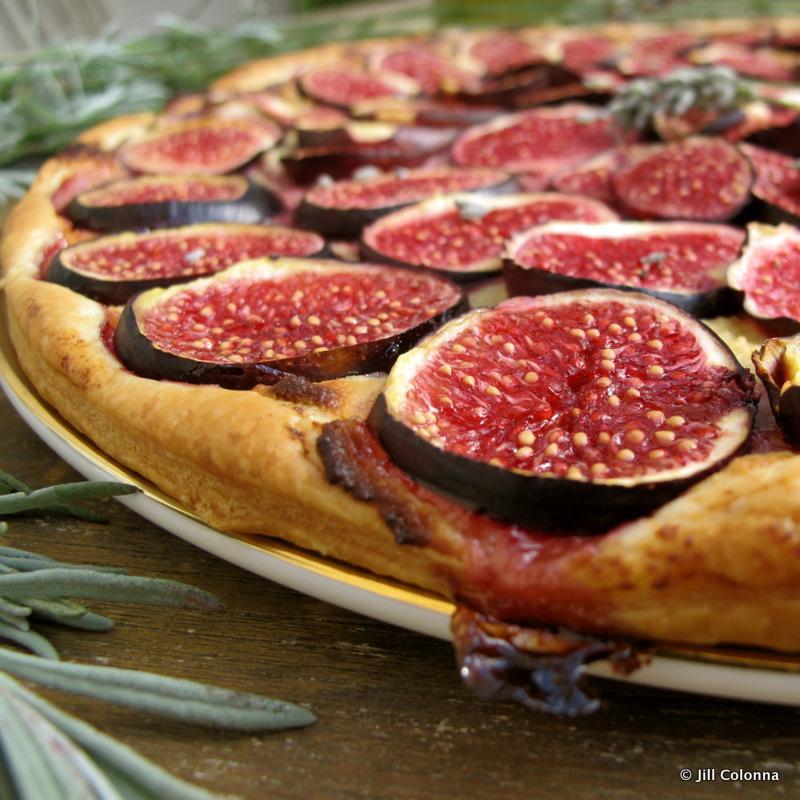 fig and lavender tart