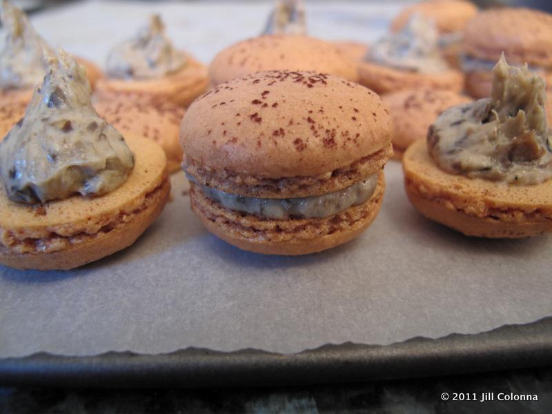 French Mushroom Truffle Macarons