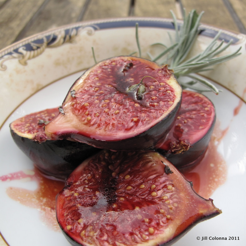 roasted figs in honey and lavender