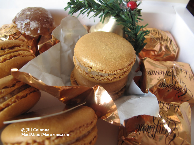 candied chestnut or marron glacé christmas macaroons