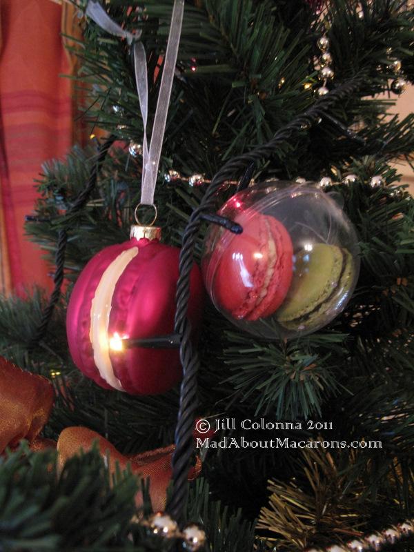 macaron christmas tree decorations