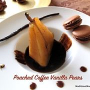 poached coffee vanilla pears