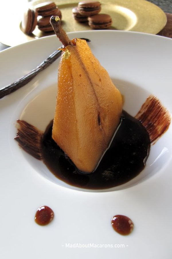Vanilla Coffee Poached Pears