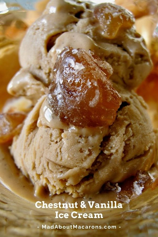 Chestnut Vanilla Ice Cream Recipe Pin