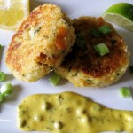 tartare sauce with smoked fishcakes