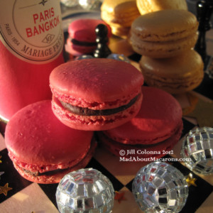 chocolate macarons infused with Mariage Freres tea Paris-Bangkok