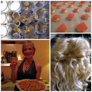 pannacottas, choux, hot macs & a sizzling wig