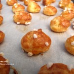 how to make French chouquettes using choux or eclair pastry