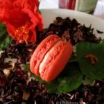 hibiscus tea macarons