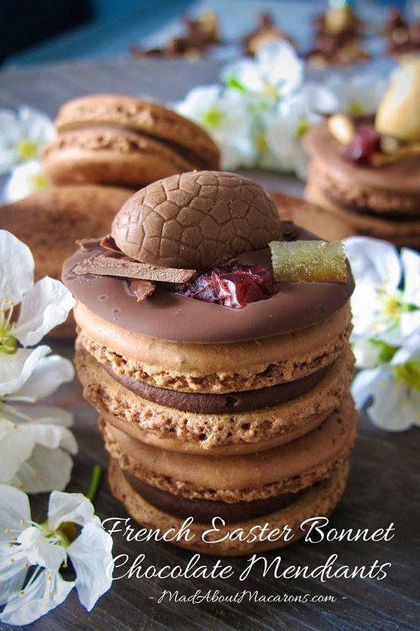 french chocolate mendiants hats