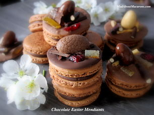 chocolate mendiants for Easter