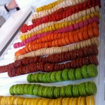 colorful macaron stacks