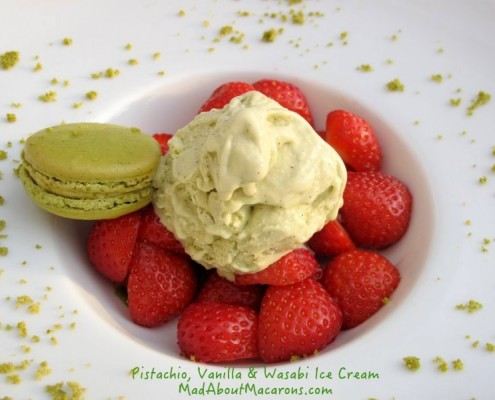 Pistachio Vanilla Wasabi Ice Cream recipe