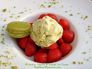 Pistachio wasabi ice cream