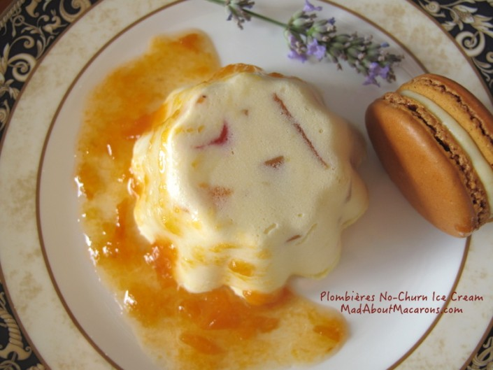 Plombieres French Glazed Fruit no churn ice cream