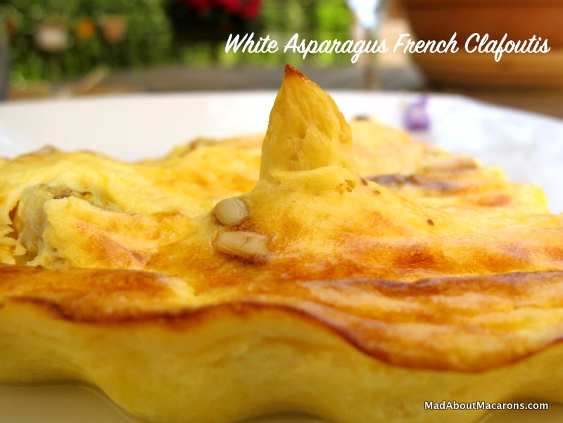 White Asparagus French Clafoutis