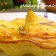 white asparagus clafoutis slice