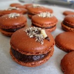 Home made chocolate hazelnut macarons - MadAboutMacarons.com