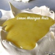 Lemon Cream Meringue Nests