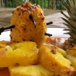 Roasted Vanilla Pineapple with Passion Fruit with MadAboutMacarons.com