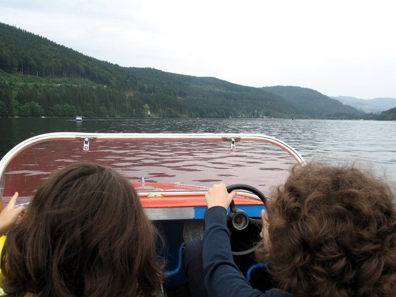 Boating on Lake Titisee Black Forest Germany - great for family holidays