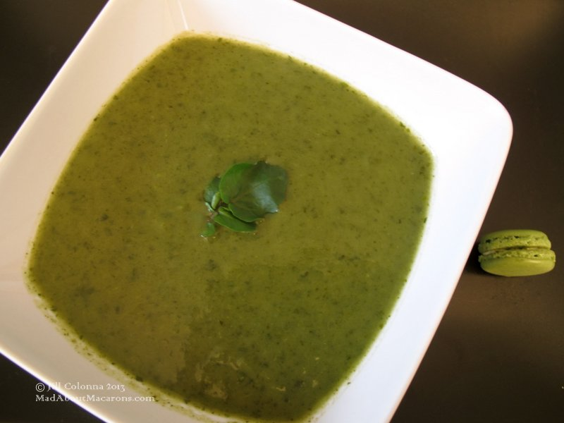 watercress soup or French soupe de cresson