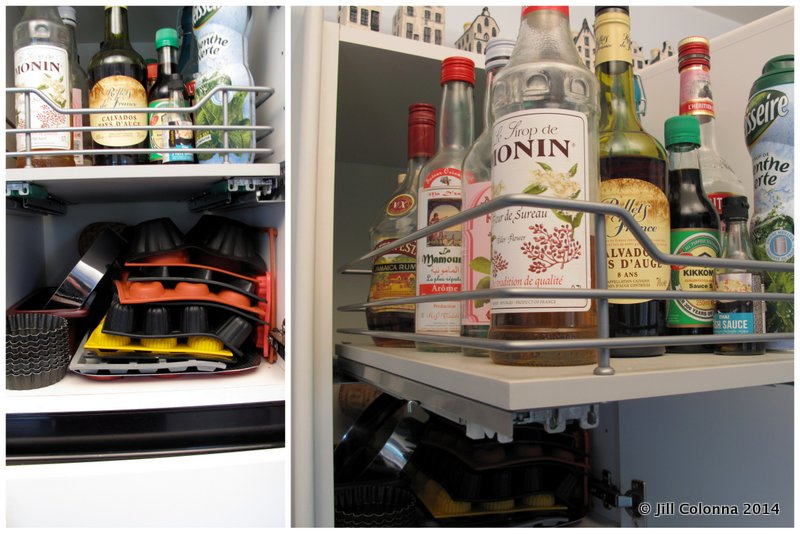 Deep kitchen cupboard shelving for maximum space use