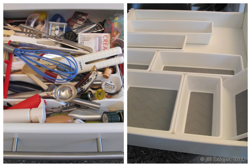 how to best organise kitchen drawers with organiser boxes