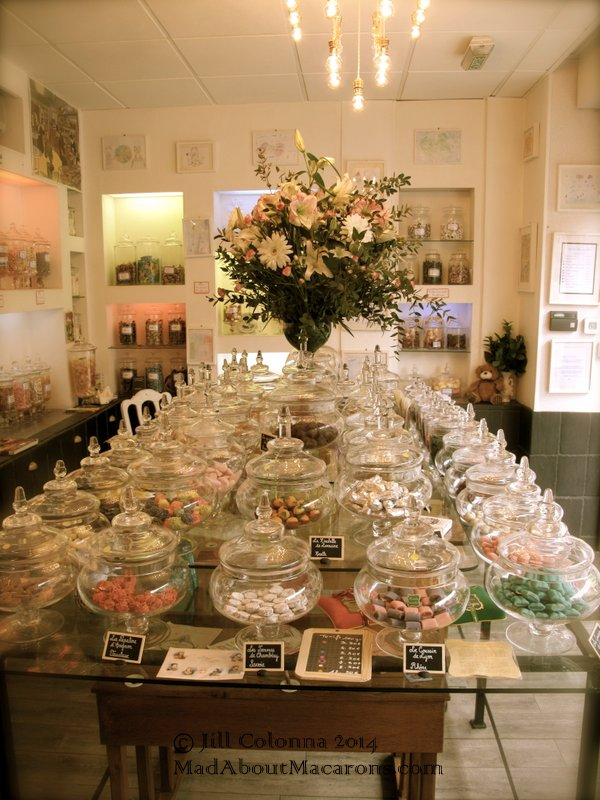 Table of French regional confectionary at Le Bonbon au Palais, The best sweet shop in Paris