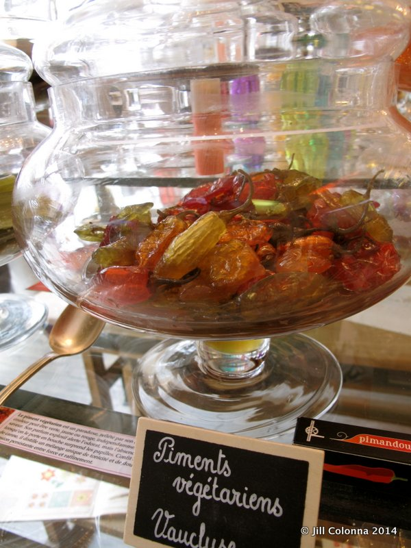 spicy sweet piments of Vaucluse, candy speciality in Provence